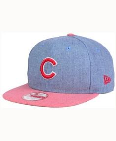 New Era Chicago Cubs Heather 2Tone Snapback Cap - Blue Adjustable