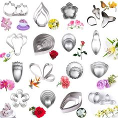 Details about Flower Petal Leaf Stainless Steel Biscuit Cookie Cutter Fondant Cake Decor Mould Bolo Fondant, Fondant Rose, Fondant Flowers, Fondant Baby, Fondant Cakes, Fondant Molds, Creative Cake Decorating, Cake Decorating Techniques, Decorating Tools