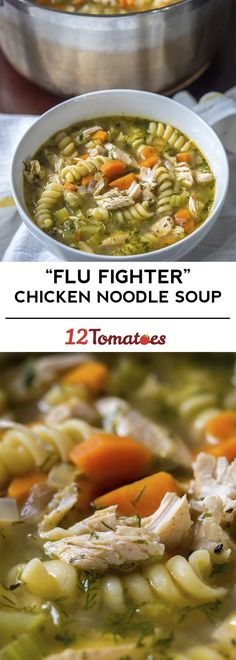 """""""Flu Fighter"""" Chicken Noodle Soup ~ Whenever we feel ourselves coming down with a cold, this is the first thing we make!"""