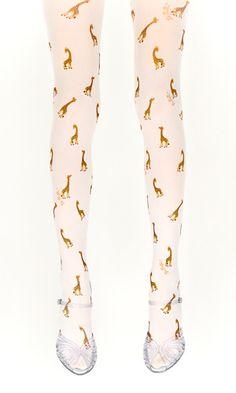 Collant Giraffa (Colore Bianco)