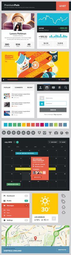 Free Flat UI Kit 10