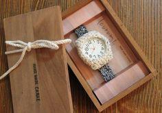 size:L(15.5cm~17cm) 質感のよい綿の糸を使用したkurumi時計。 優しい風合いです。 腕にやわらかくフィットするニットの腕時計。 【取扱説... ハンドメイド、手作り、手仕事品の通販・販売・購入ならCreema。