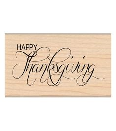My Sentiments Exactly 1.5''x2.5'' Mounted Stamp-Happy Thanksgiving