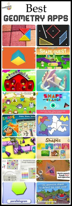 Preschoolers and elementary age kids can all benefit from learning shapes and geometry at their age appropriate level with these fun geometry apps.
