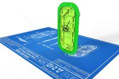 Model ship door and frame design for a 3D print Shapeways client