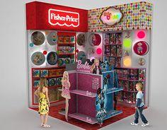 Creación de mobiliario Hotwheels, Barbie, Monster High y Fisher Price para cliente Mattel.