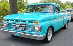1965 Ford f100. I would drive this until the wheels fell off. Then I'd get new wheels.....