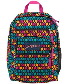 Jansport Big Student Backpack, Black Ele Fancy