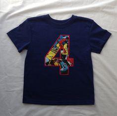 Avenger Themed Appliqué Birthday Shirt by TaylorADesigns on Etsy, $21.95