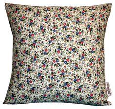 SALE Handmade Vintage Cushion 18inch White Floral. £16.00, via Etsy.