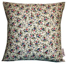 SALE Handmade Vintage Cushion 18inch White Floral. £16.00, via Etsy.