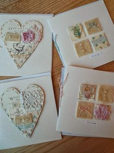 Nostalgia - My Creations & Fair Dates: Deck of Cards. Fabric Cards, Fabric Postcards, Paper Cards, Cards Diy, Xmas Cards, Art Carte, Sewing Cards, Free Motion Embroidery, Heart Cards