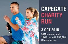 Join in the fun at the Capegate Charity Run 10km Run, Charity Run, Cash Prize, Magnifying Glass, September, Join, Running, Keep Running, Why I Run