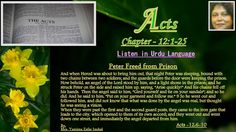 "Acts Chapter -12:1-25. Angel said,""Gird yourself and tie on your sandals..."