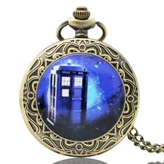 New Arrival Hot UK TV Doctor Who Theme Series Pocket Watch Chain Pendant Watches Dr Who Fans Gift 2016
