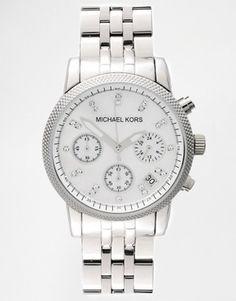 Michael Kors - Ritz  MK5020 - Orologio cronografo argento con strass