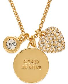 b160ea297ef kate spade new york Gold-Tone Charm Pendant Necklace - All Fashion Jewelry  - Jewelry