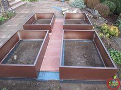 acheter ou fabriquer des bacs en acier ou en aluminium pour faire un potager en carre durable et resistant