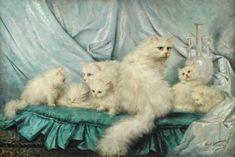 Carl Kahler (1855-1906) - Family portrait, oil on canvas, 82,6 x 123,2 cm.