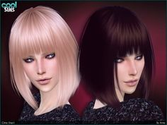 The Sims Resource: Nightcrawler - Gigi hairstyle | Sims 4 Downloads | Scoop.it