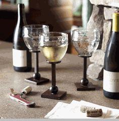 Castilian Hammered Iron Wine Glass
