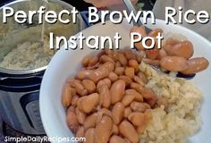 Brown Rice pressure cooked in Instant Pot. High 20 mins. 2 c rice, 2.5 c water. Let stand 10 min and release.