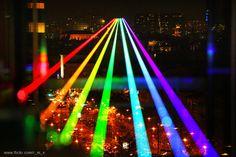 Global Rainbow, High Power Laser Projection of a Giant Rainbow... | Carddit