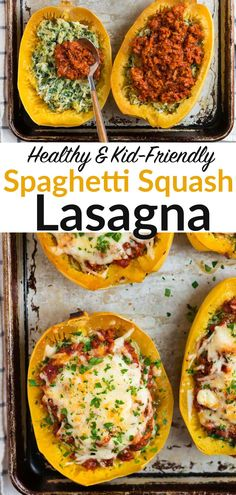 Healthy Spaghetti Squash Lasagna with ground turkey, spinach, and ricotta. All the comforting flavor of lasagna, made easier and low carb!#glutenfree #kidfriendly #healthydinner @wellplated Healthy Eating Recipes, Low Carb Recipes, Spaghetti Squash Lasagna, Eating Clean, Ground Turkey, Plant Based Diet, Ricotta, Grain Free, Glutenfree