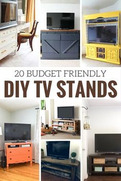 Whether you transform a dresser into a TV stand, create a media console from pallets or paint your current TV console check out these budget friendly DIY TV stands for inspiration