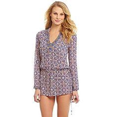 """Spotted while shopping on Poshmark: """"Blue & Orange Drop-Waist Embellished Tunic CoverUp""""! #poshmark #fashion #shopping #style #Antonio Melani #Other"""