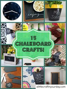 15 Chalkboard Crafts | A Little Craft In Your Day