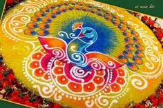 Peacock rangoli designs are popular due to it's colors, vibrant feathers and beautiful shapes. Latest Peacock rangoli designs for Diwali and other festivals Indian Rangoli Designs, Beautiful Rangoli Designs, Diwali Designs, Peacock Rangoli, Rangoli Patterns, Butterfly Drawing, Peacock Design, Peacock Colors, Indian Folk Art