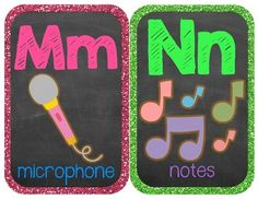 Classroom Alphabet {Rockin' Rockstar Theme} {Wall Cards/Posters}