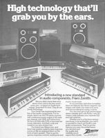 Zenith Audio Components 1978 Ad Picture