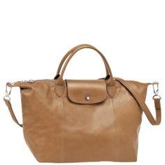 Longchamp - ' Le Pliage cuir' Medium