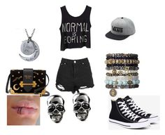 """normal is boring"" by amerchen on Polyvore featuring Converse, Prada and Vans"