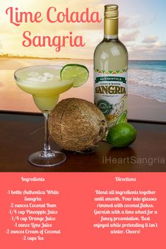 - A tasty, tropical drink for your taste buds. Sangria Drink, Sangria Cocktail, Summer Sangria, Cocktails, Drinks, Sangria Recipes, Cocktail Recipes, Thing 1, Coconut Rum