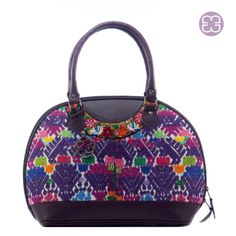 Kitty style bag made of a huipil of San Pedro Sacatepéquez