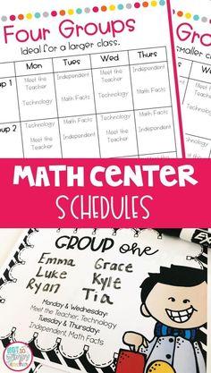 Simple math center a