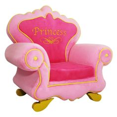 Royal Princess Chair - Really Cool Chairs Princess Chair, Princess Room Decor, Princess Bedrooms, Boy Bedrooms, Girl Rooms, Baby Rooms, Girls Bedroom, Princess Carriage Bed, Royal Chair