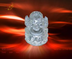 Ganesh Made in Crystal Quartz.  Looks great + Best for Spiritual Worship