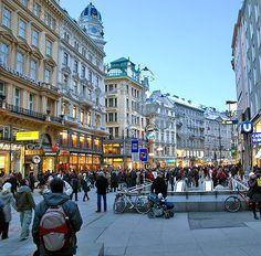 mariahilfer straße in Vienna, Austria. Had so much fun shopping here!
