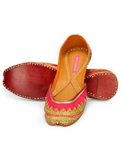 Multicolored Berrylicious Juttis with Beads by Pastels & Pop.Designer juttis by Pastels & Pop   Shop on www.jivaana.com for all your Indian weddings and festivals.  #jivaana #juttis #jootis