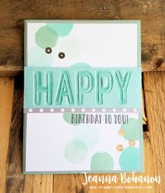 #TGIFC101 Stampin' Up! Happy Celebrations Jeanna Bohanon