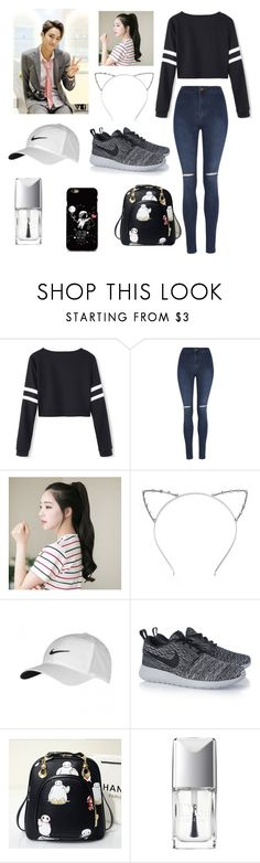 """Visual Mingyu..."" by singerforlyfe ❤ liked on Polyvore featuring George, GABALNARA, NIKE, Christian Dior, women's clothing, women's fashion, women, female, woman and misses"