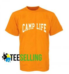 Camp life T-shirt Unisex Price: 15.50 #tshirt Funny Shirt Sayings, Shirts With Sayings, Funny Shirts, Cute Graphic Tees, Graphic Shirts, Camping Life, Workout Shirts, How To Look Better, Unisex