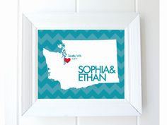 #Wedding Love Map, #Chevron Fine #Art Print by SouthernSlang, $12.00. Totally customizable. Visit this shop at http://www.etsy.com/shop/SouthernSlang?ref=seller_info