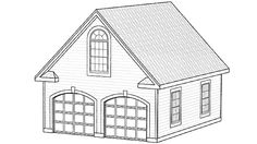 Eplans Garage Plan - 0 Square Feet and 0 Bedrooms from Eplans - House Plan Code Garage Plans, Garage Ideas, Attached Garage, Floor Framing, Energy Conservation, Building Department, Roof Plan, Ceiling Beams, Plan Design