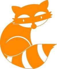 Wasbeer van * Badger & Co *, oranje, velours t-shirt design - PeppAuf.de