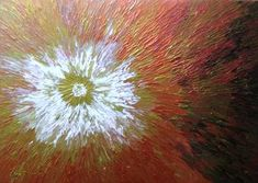 """Saatchi Art Artist Liza Wheeler; Painting, """"A Starburst - colorful abstract aerial painting by Liza Wheeler"""" #art"""
